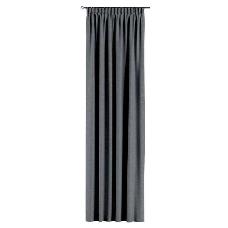 Gardin med rynkband 1 längd i kollektionen City, Tyg: 704-86