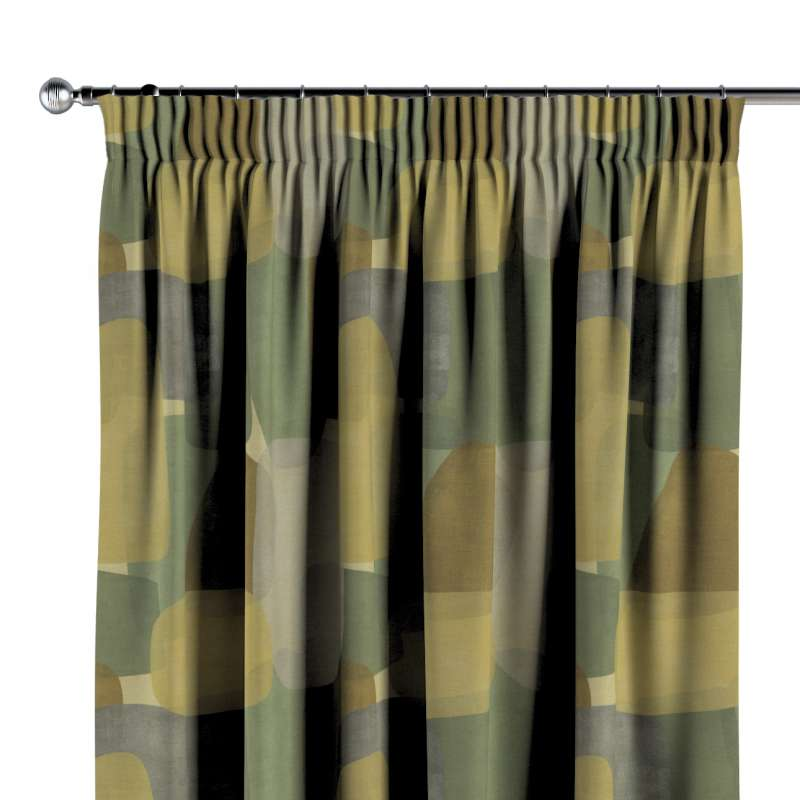 Pencil pleat curtain in collection Vintage 70's, fabric: 143-72