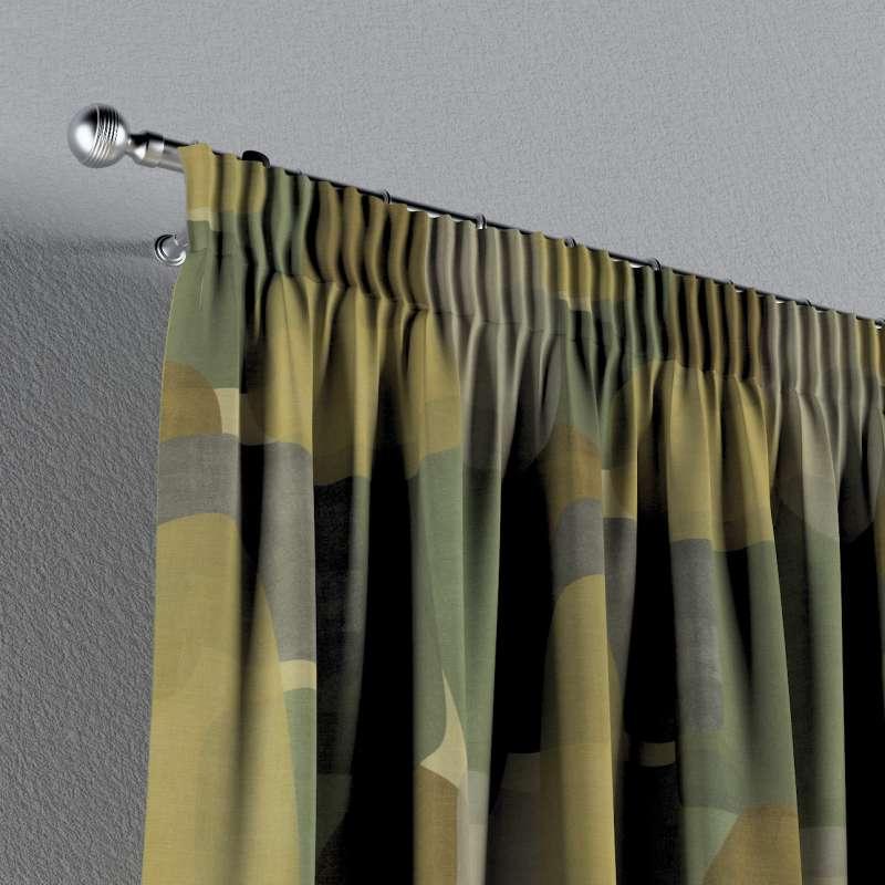Vorhang mit Kräuselband von der Kollektion Vintage 70's, Stoff: 143-72