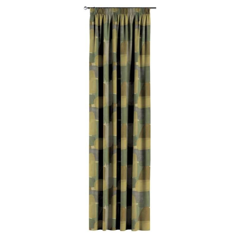 Gardin med rynkband 1 längd i kollektionen Vintage 70's, Tyg: 143-72
