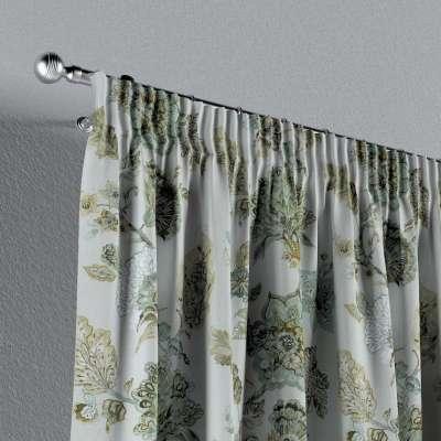 Záves na riasiacej páske V kolekcii Flowers, tkanina: 143-67