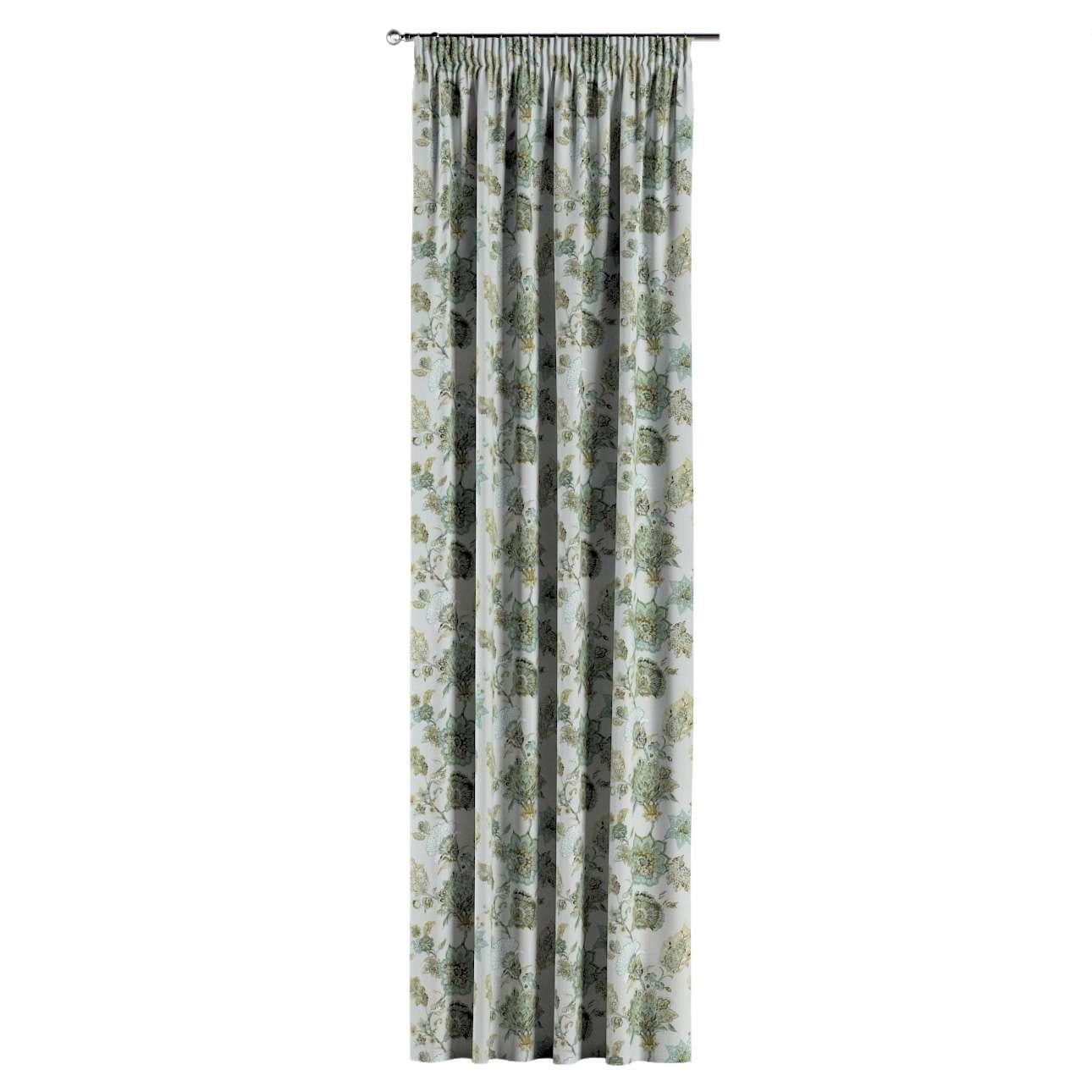 Vorhang mit Kräuselband von der Kollektion Flowers, Stoff: 143-67