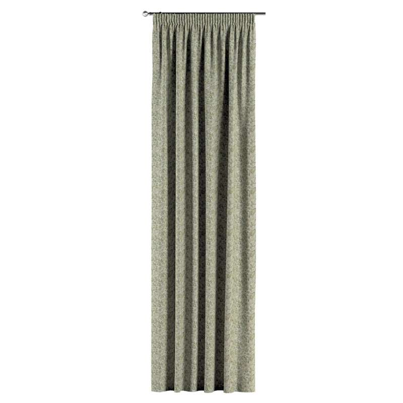 Pencil pleat curtain in collection Flowers, fabric: 143-68