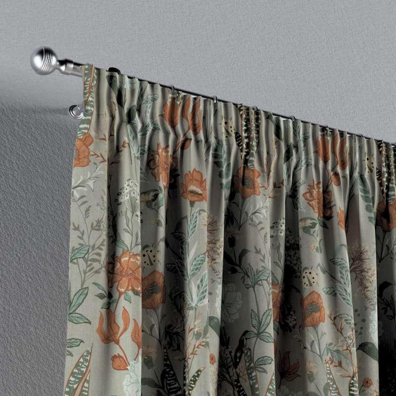 Vorhang mit Kräuselband von der Kollektion Flowers, Stoff: 143-70