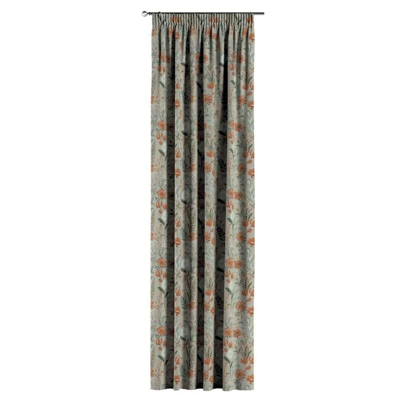 Gardin med rynkband 1 längd i kollektionen Flowers, Tyg: 143-70