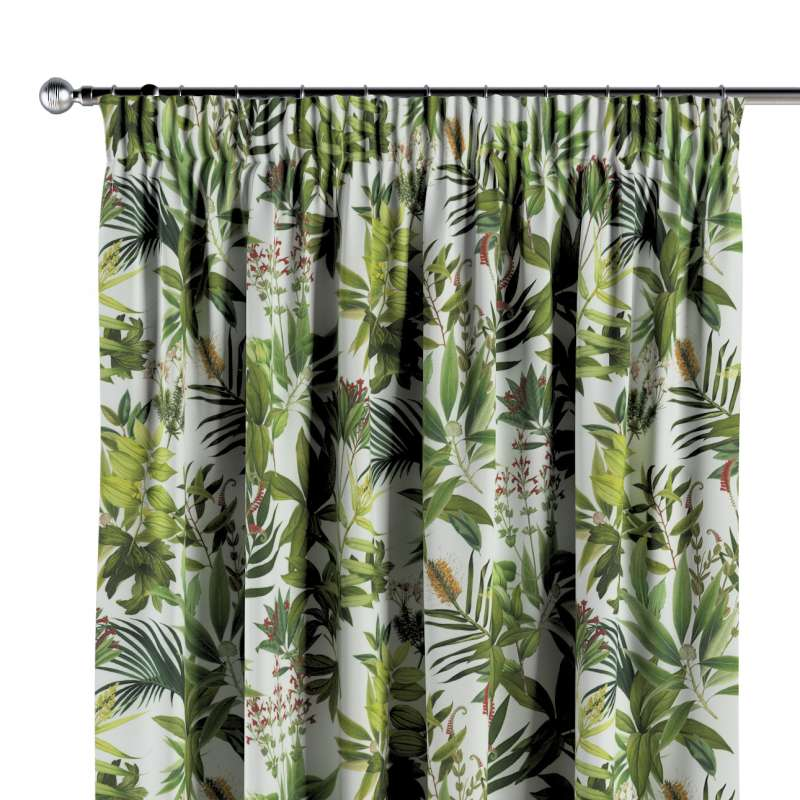 Vorhang mit Kräuselband von der Kollektion Tropical Island, Stoff: 143-69