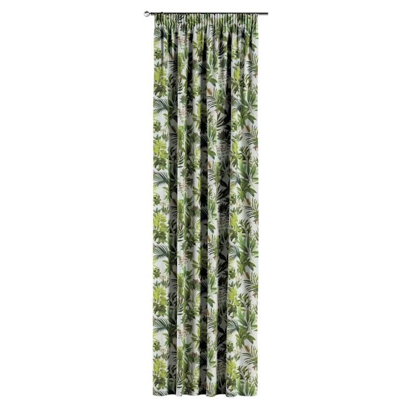 Zasłona na taśmie marszczącej 1 szt. w kolekcji Tropical Island, tkanina: 143-69
