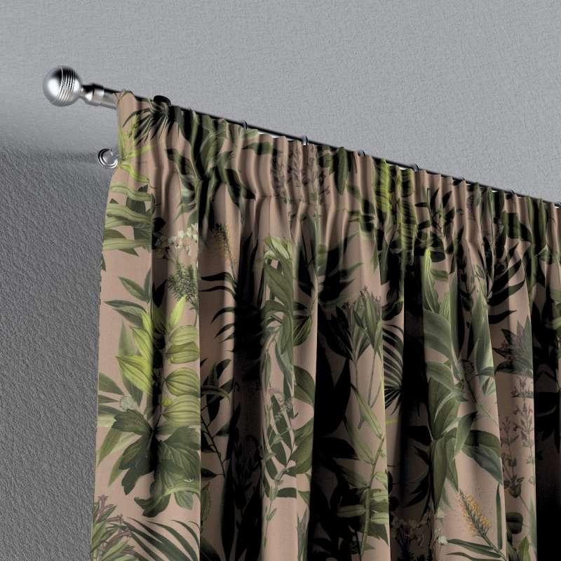 Záves na riasiacej páske V kolekcii Tropical Island, tkanina: 143-71