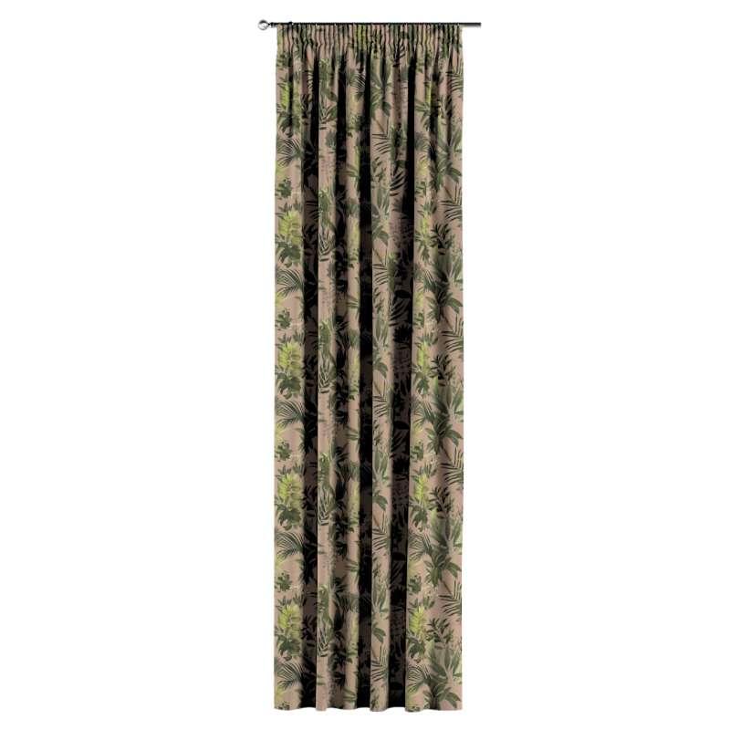 Vorhang mit Kräuselband von der Kollektion Tropical Island, Stoff: 143-71