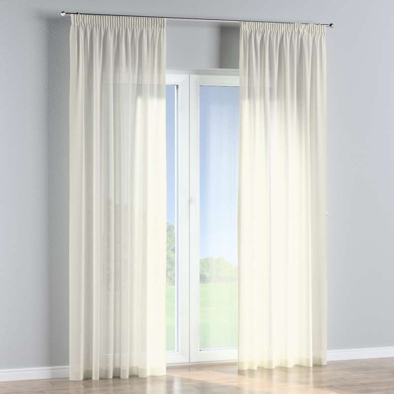 Pencil pleat curtains in collection Romantica, fabric: 128-88