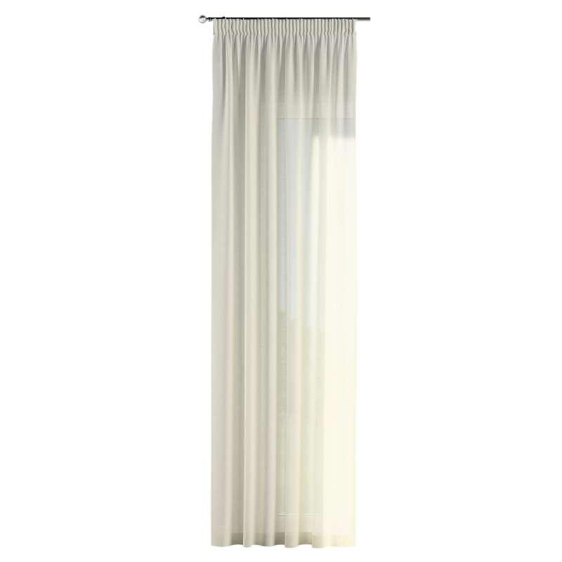 Gardin med rynkband 1 längd i kollektionen Romantica, Tyg: 128-88