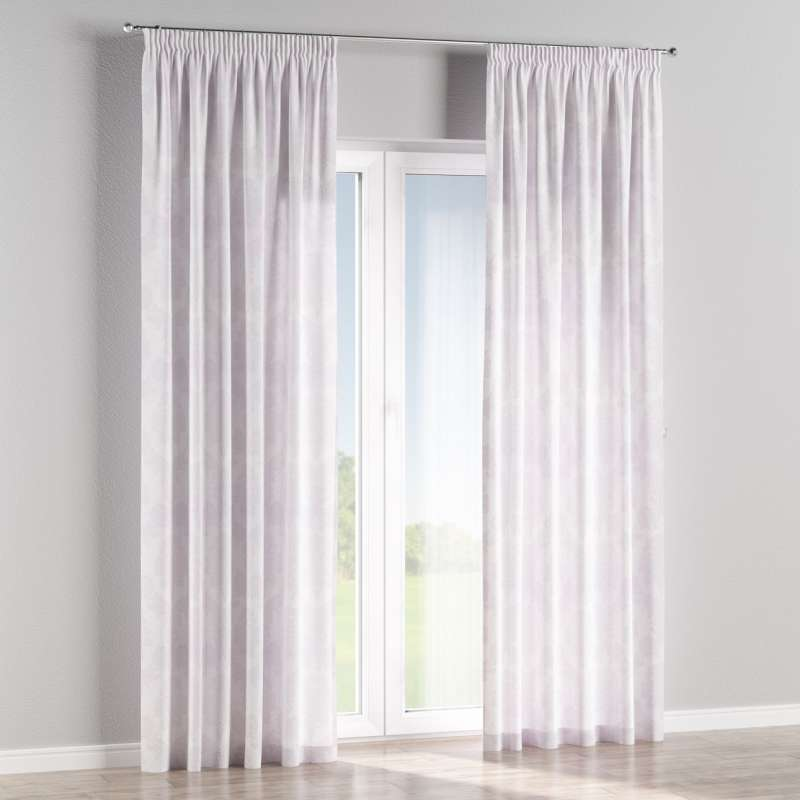 Pencil pleat curtain in collection Damasco, fabric: 613-00