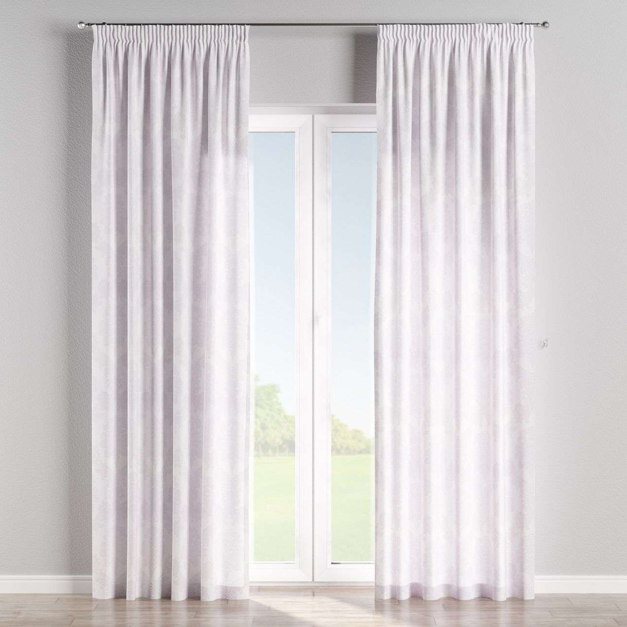 Pencil pleat curtains 130 x 260 cm (51 x 102 inch) in collection Damasco, fabric: 613-00