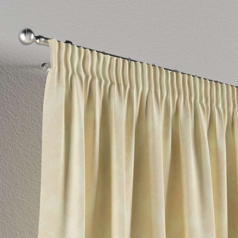 Pencil pleat curtain in collection Damasco, fabric: 613-01