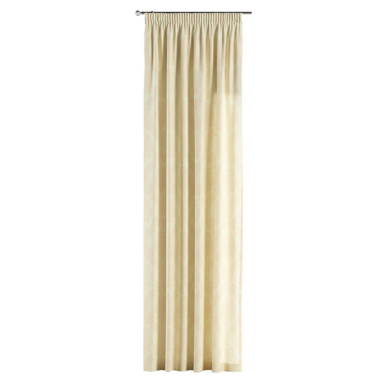 Pencil pleat curtains 130 x 260 cm (51 x 102 inch) in collection Damasco, fabric: 613-01