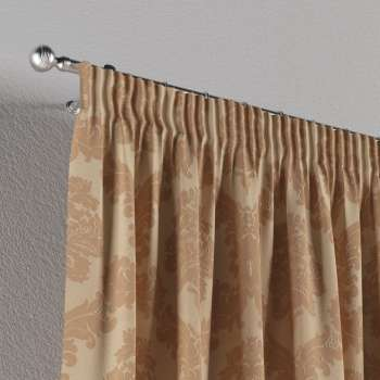 Vorhang mit Kräuselband von der Kollektion Damasco, Stoff: 613-04