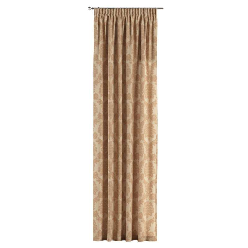 Pencil pleat curtain in collection Damasco, fabric: 613-04