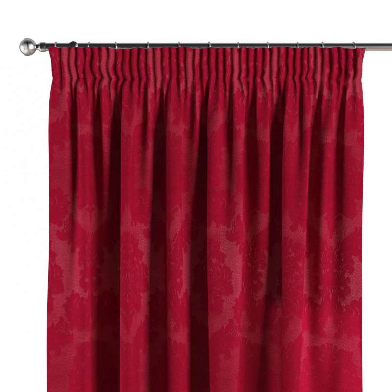 Pencil pleat curtain in collection Damasco, fabric: 613-13