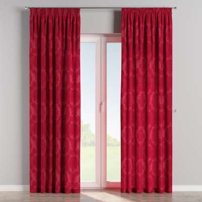 Pencil pleat curtains in collection Damasco, fabric: 613-13