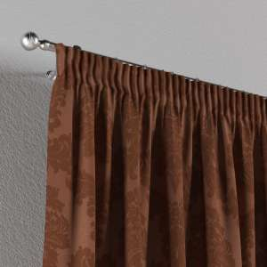 Pencil pleat curtains 130 x 260 cm (51 x 102 inch) in collection Damasco, fabric: 613-88
