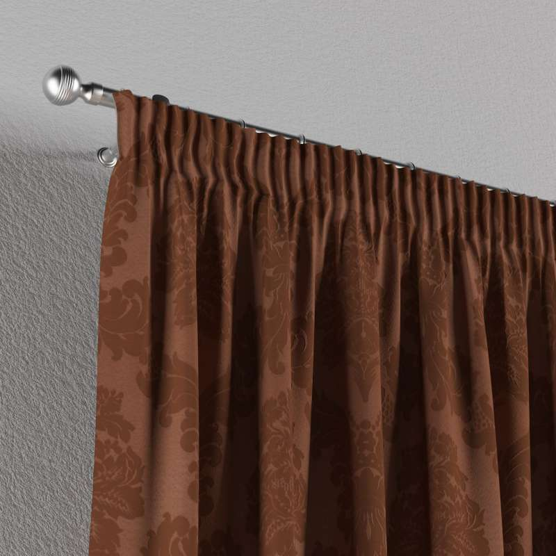Pencil pleat curtain in collection Damasco, fabric: 613-88