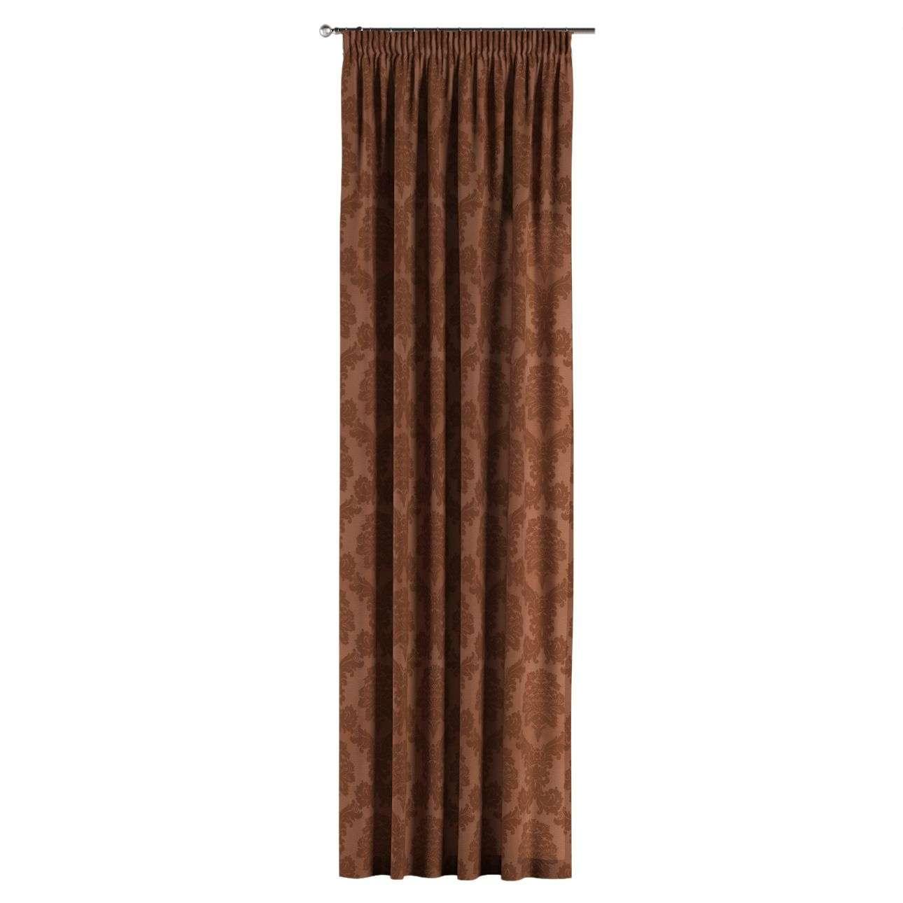 Pieštukinio klostavimo užuolaidos 130 × 260 cm (plotis × ilgis) kolekcijoje Damasco, audinys: 613-88