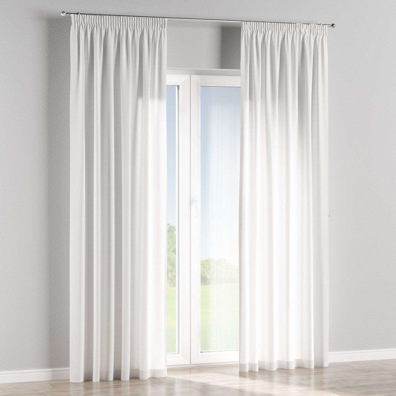 Pencil pleat curtains in collection Jupiter, fabric: 127-01
