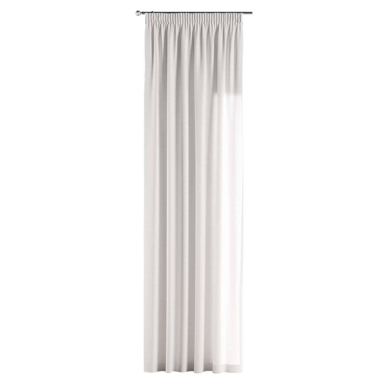 Gardin med rynkband 1 längd 130 x 260 cm i kollektionen Jupiter, Tyg: 127-01