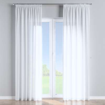 Pencil pleat curtains in collection Romantica, fabric: 128-77
