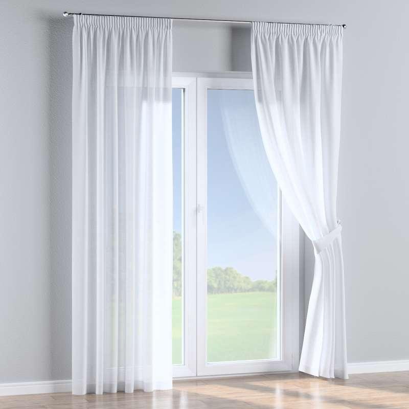 Pencil pleat curtain in collection Romantica, fabric: 128-77