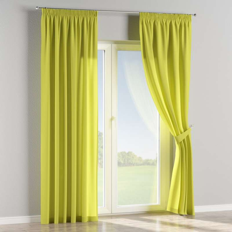 Pencil pleat curtain in collection Jupiter, fabric: 127-50