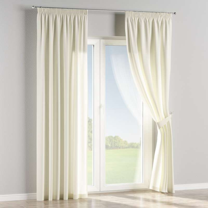 Pencil pleat curtain in collection Jupiter, fabric: 127-00