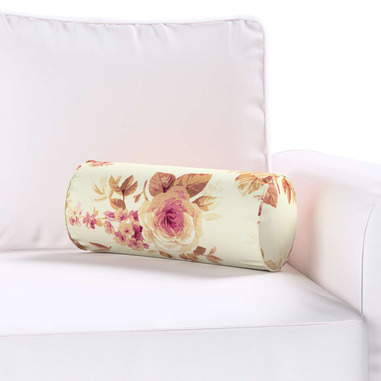 Poduszka wałek prosty Ø16x40cm w kolekcji Mirella, tkanina: 141-06