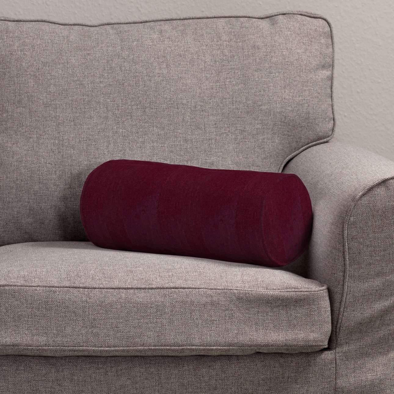 Poduszka wałek prosty Ø16x40cm w kolekcji Chenille, tkanina: 702-19