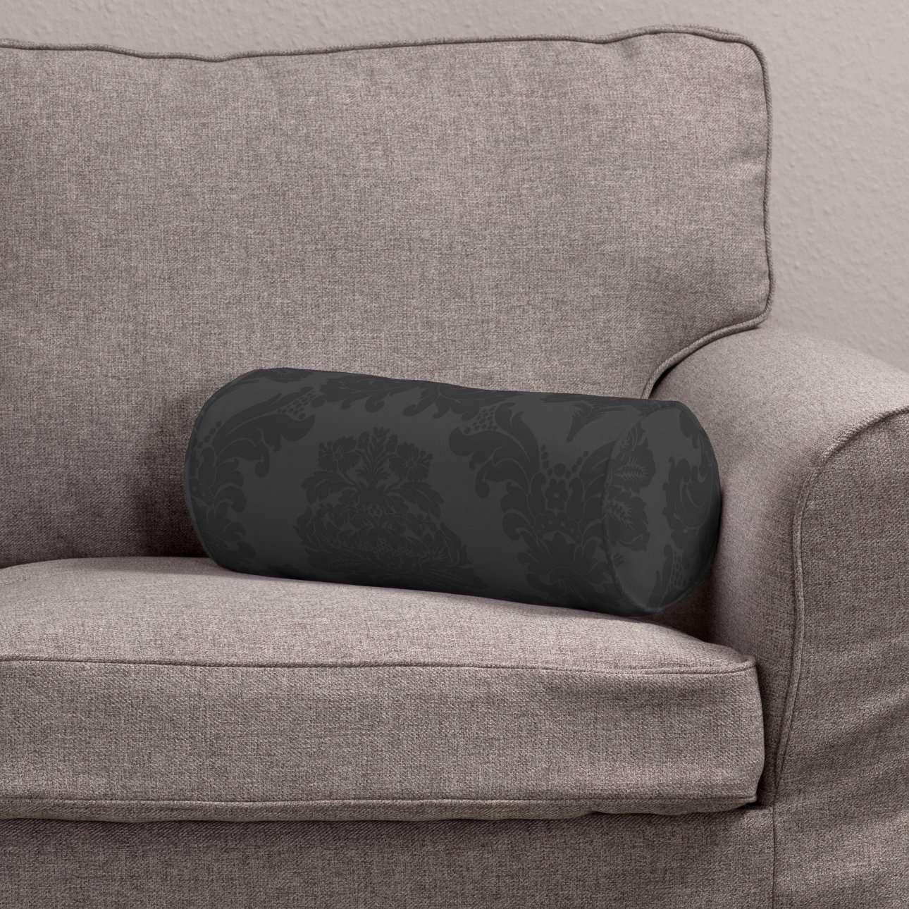 Poduszka wałek prosty Ø16x40cm w kolekcji Damasco, tkanina: 613-32