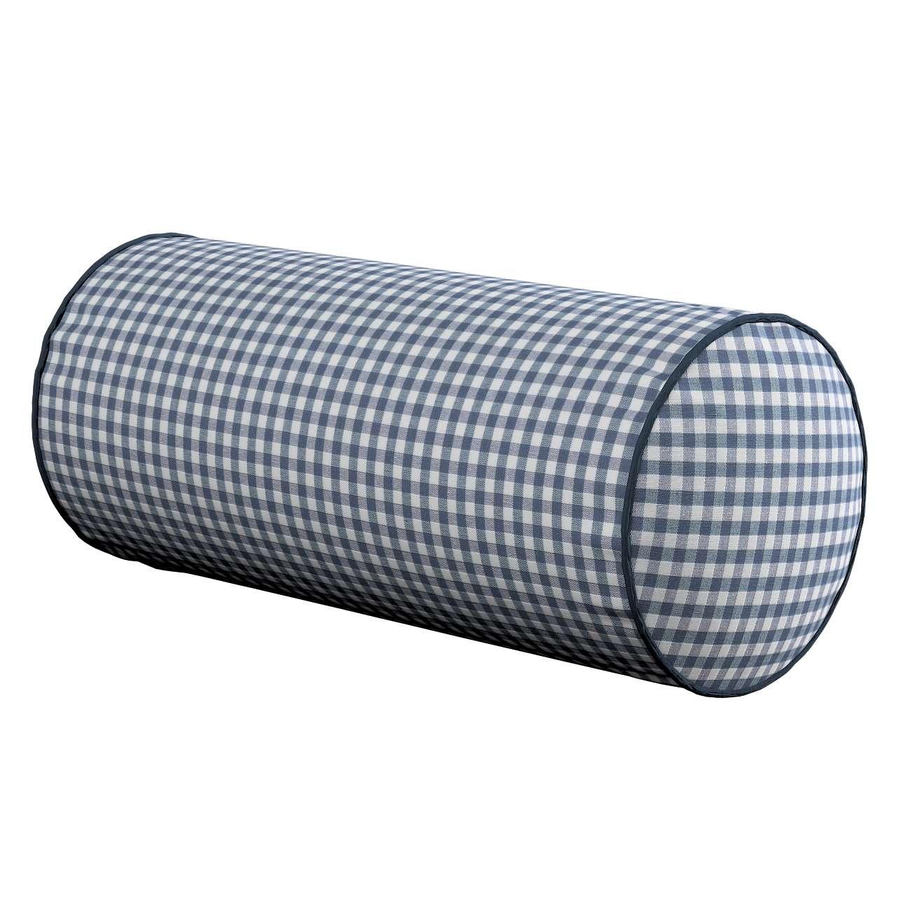 Poduszka wałek prosty Ø16x40cm w kolekcji Quadro, tkanina: 136-00