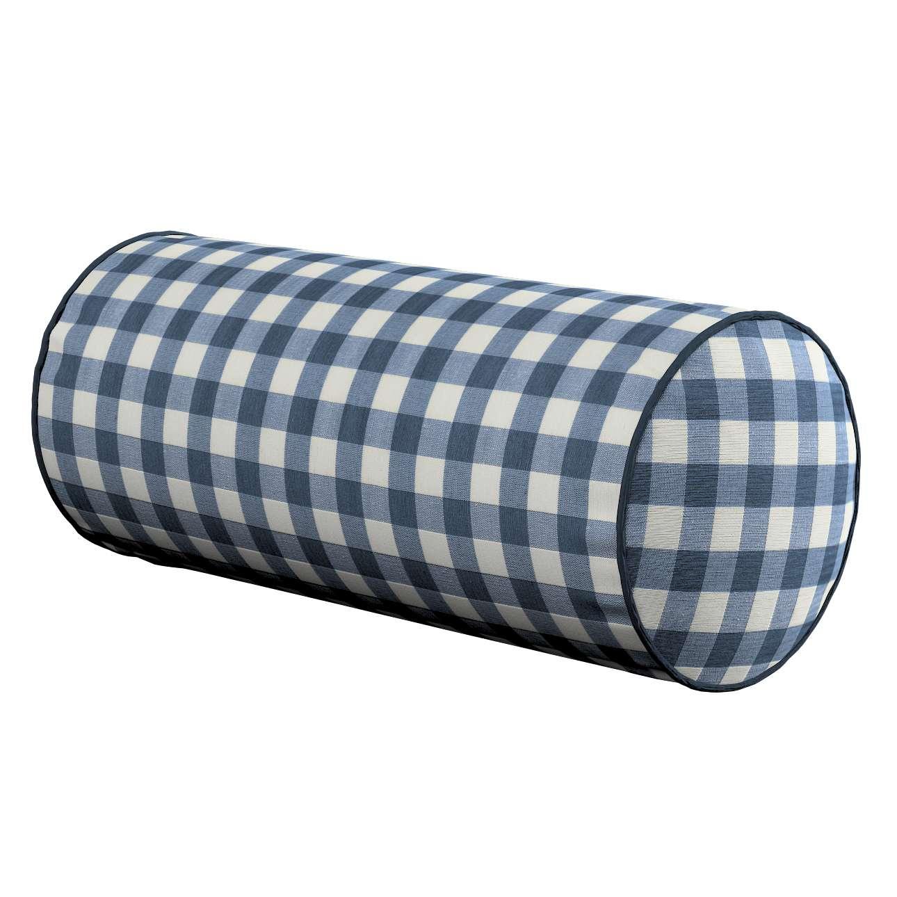 Poduszka wałek prosty Ø 16 x 40 cm w kolekcji Quadro, tkanina: 136-01
