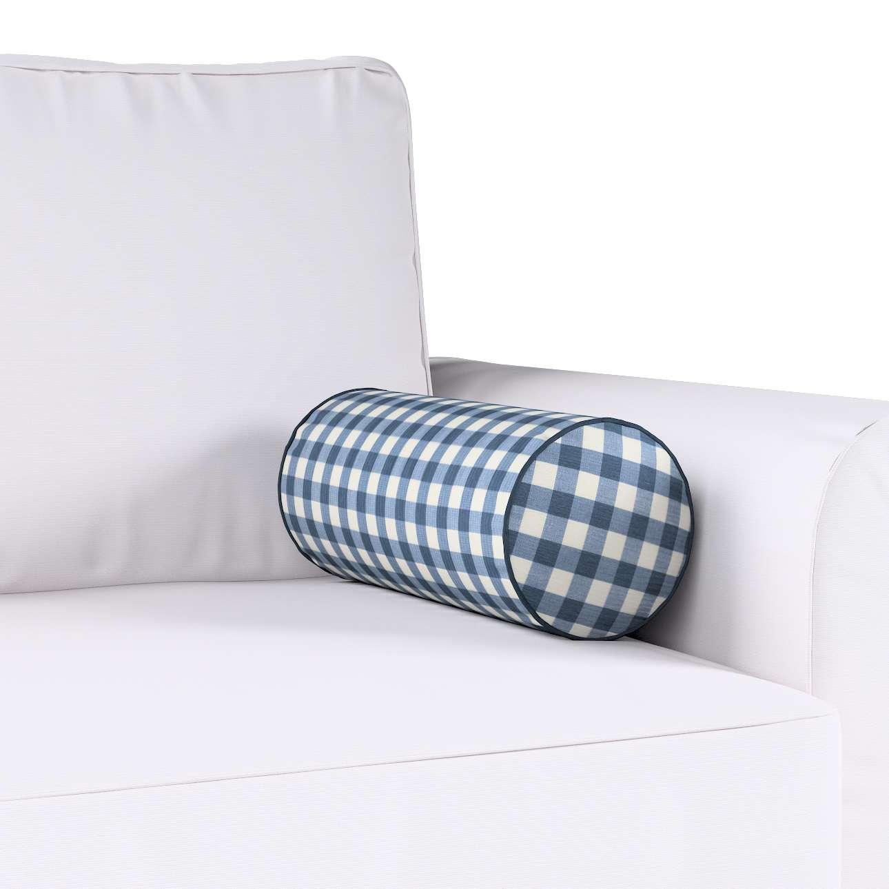 Poduszka wałek prosty Ø16x40cm w kolekcji Quadro, tkanina: 136-01