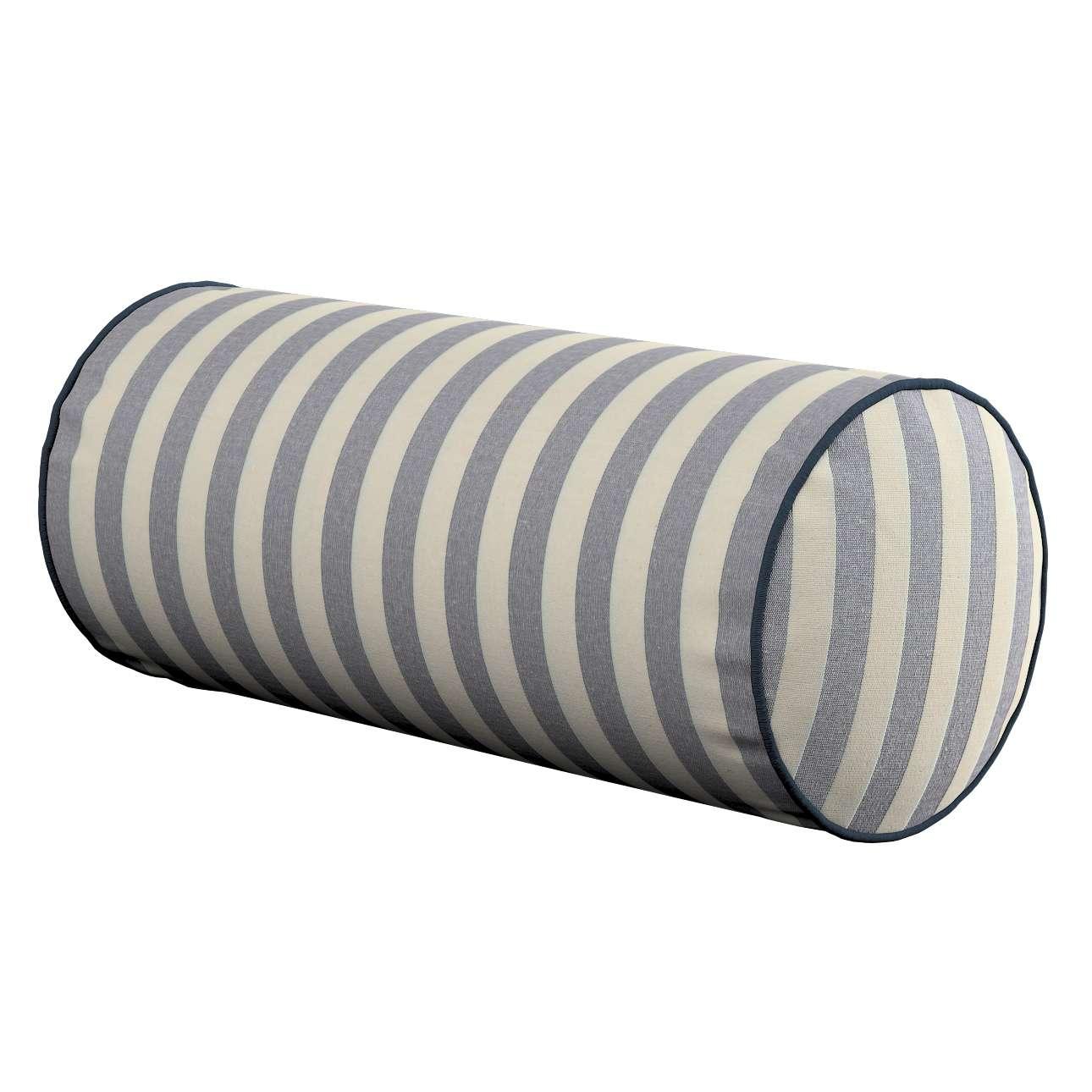 Poduszka wałek prosty Ø 16 x 40 cm w kolekcji Quadro, tkanina: 136-02