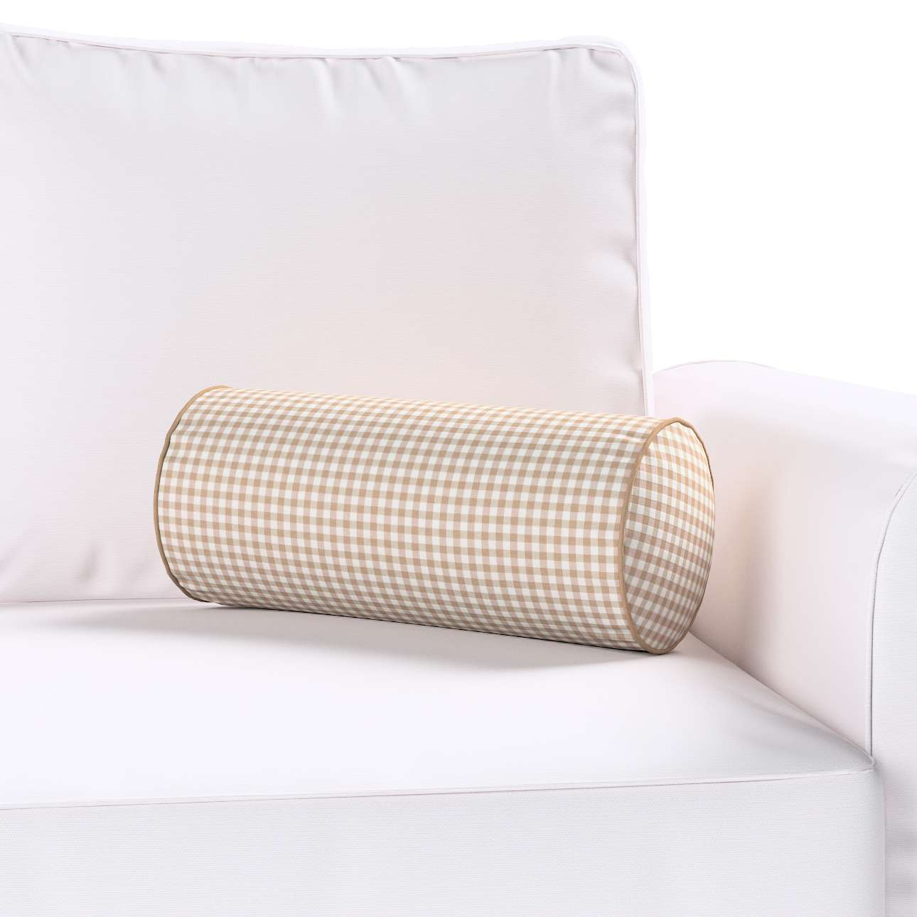 Poduszka wałek prosty Ø 16 x 40 cm w kolekcji Quadro, tkanina: 136-05