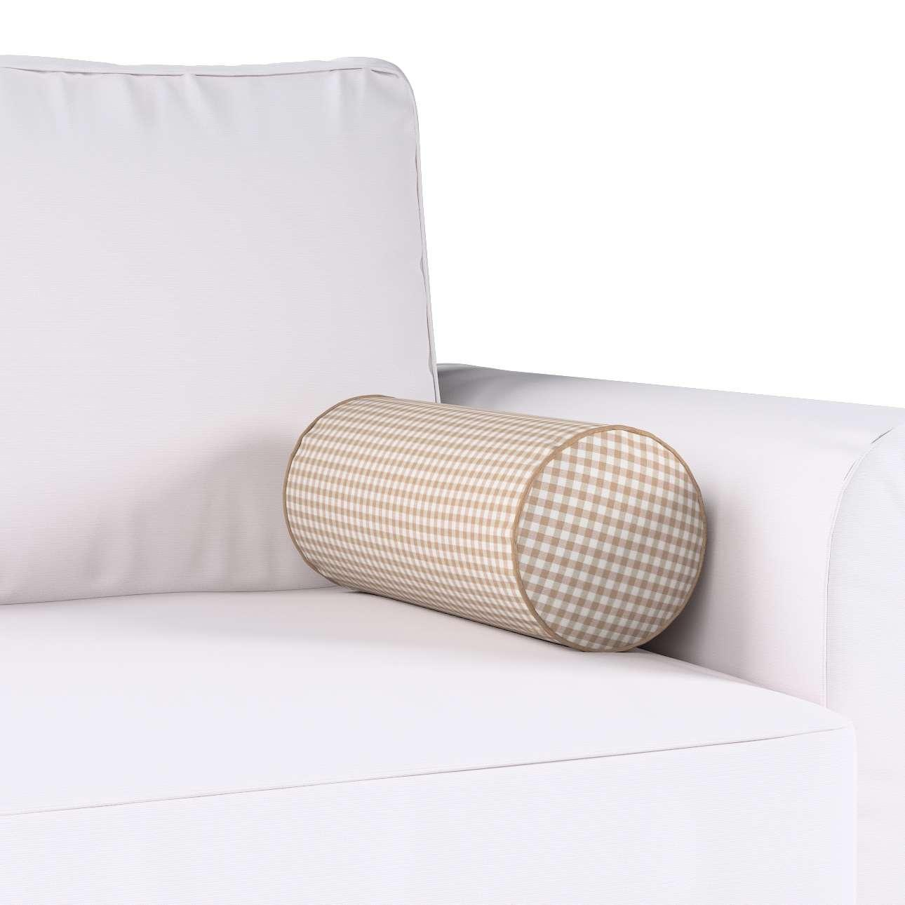 Poduszka wałek prosty Ø16x40cm w kolekcji Quadro, tkanina: 136-05