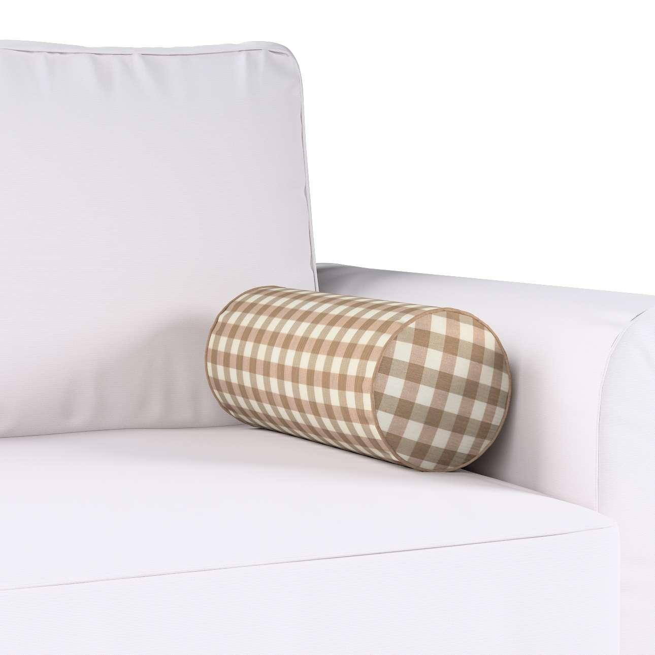 Poduszka wałek prosty Ø16x40cm w kolekcji Quadro, tkanina: 136-06