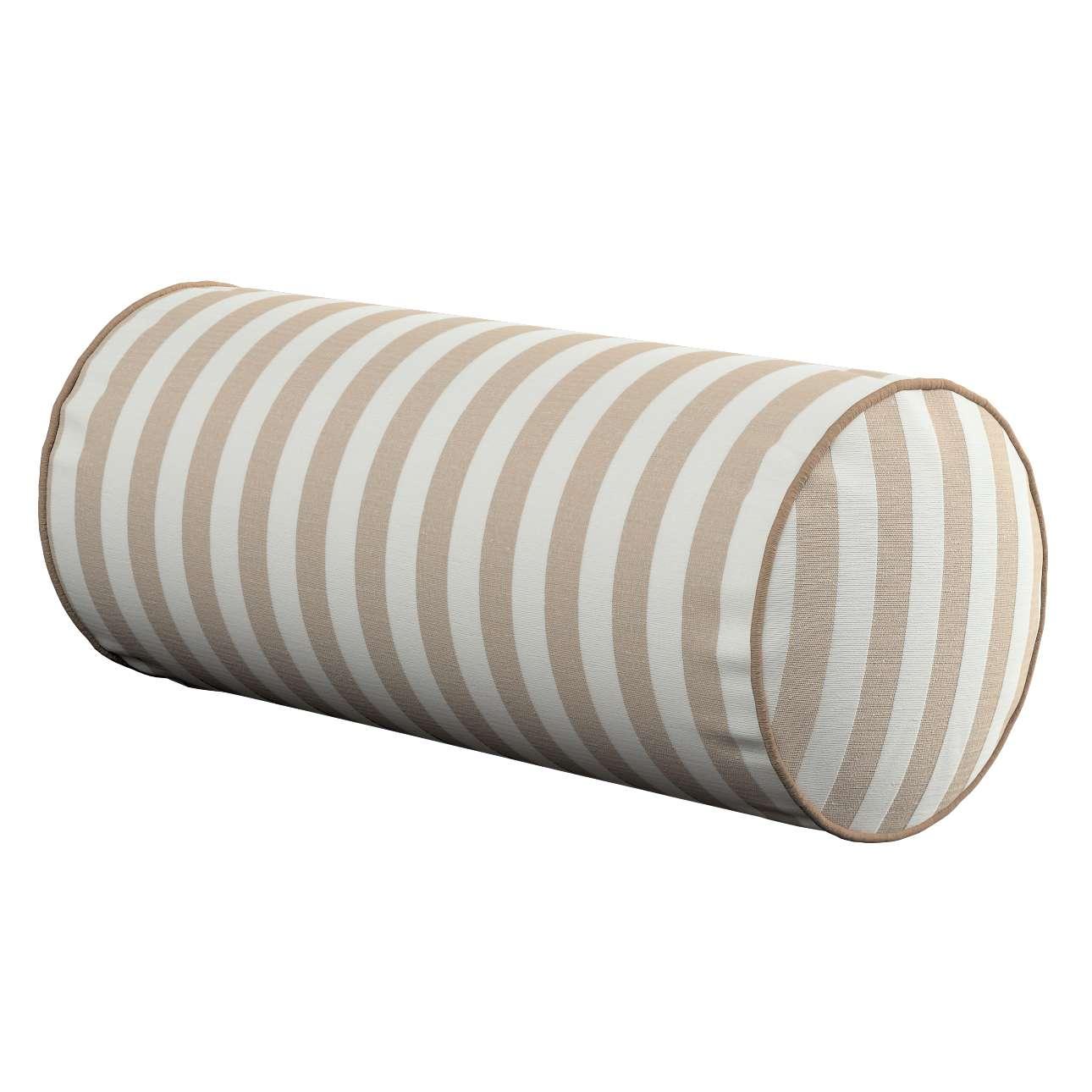 Poduszka wałek prosty Ø 16 x 40 cm w kolekcji Quadro, tkanina: 136-07
