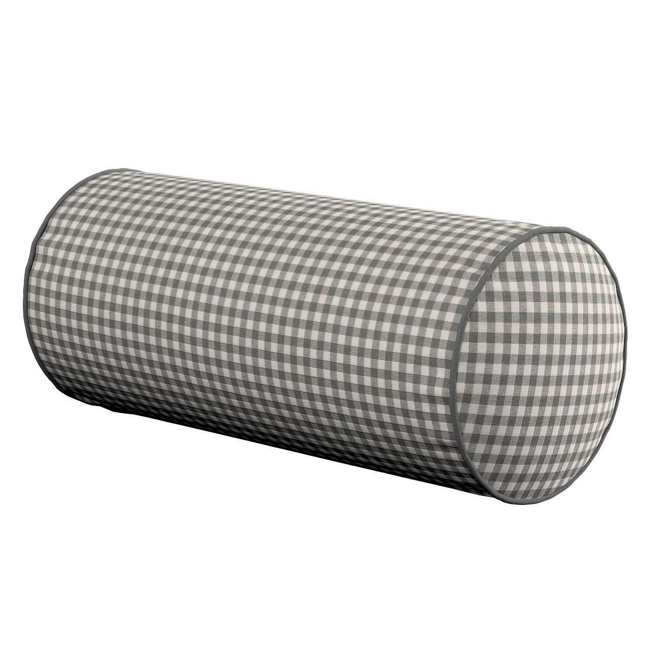Poduszka wałek prosty Ø16x40cm w kolekcji Quadro, tkanina: 136-10