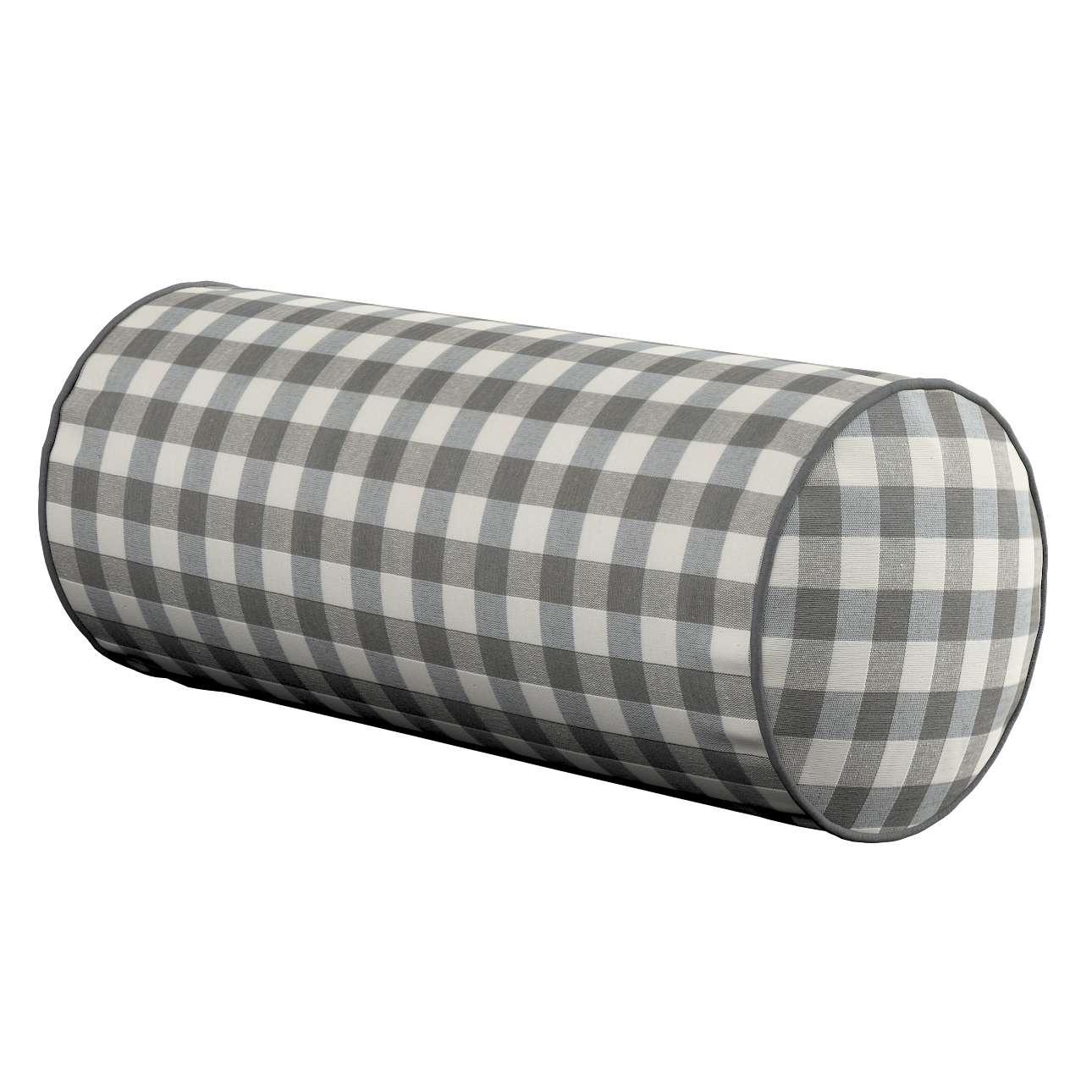 Poduszka wałek prosty Ø 16 x 40 cm w kolekcji Quadro, tkanina: 136-11