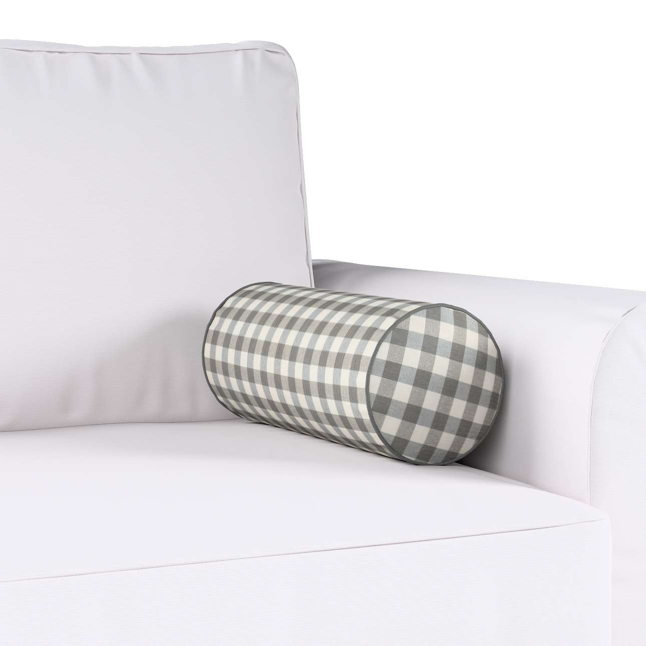 Poduszka wałek prosty Ø16x40cm w kolekcji Quadro, tkanina: 136-11