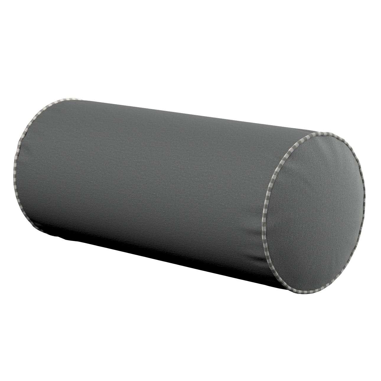Poduszka wałek prosty Ø16x40cm w kolekcji Quadro, tkanina: 136-14