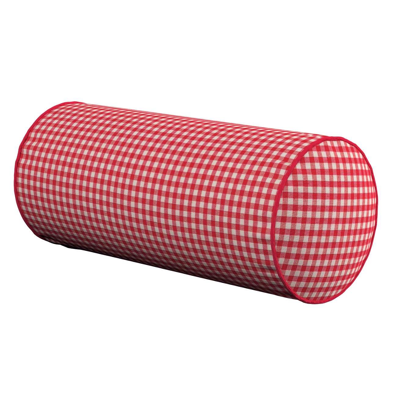 Poduszka wałek prosty Ø16x40cm w kolekcji Quadro, tkanina: 136-15