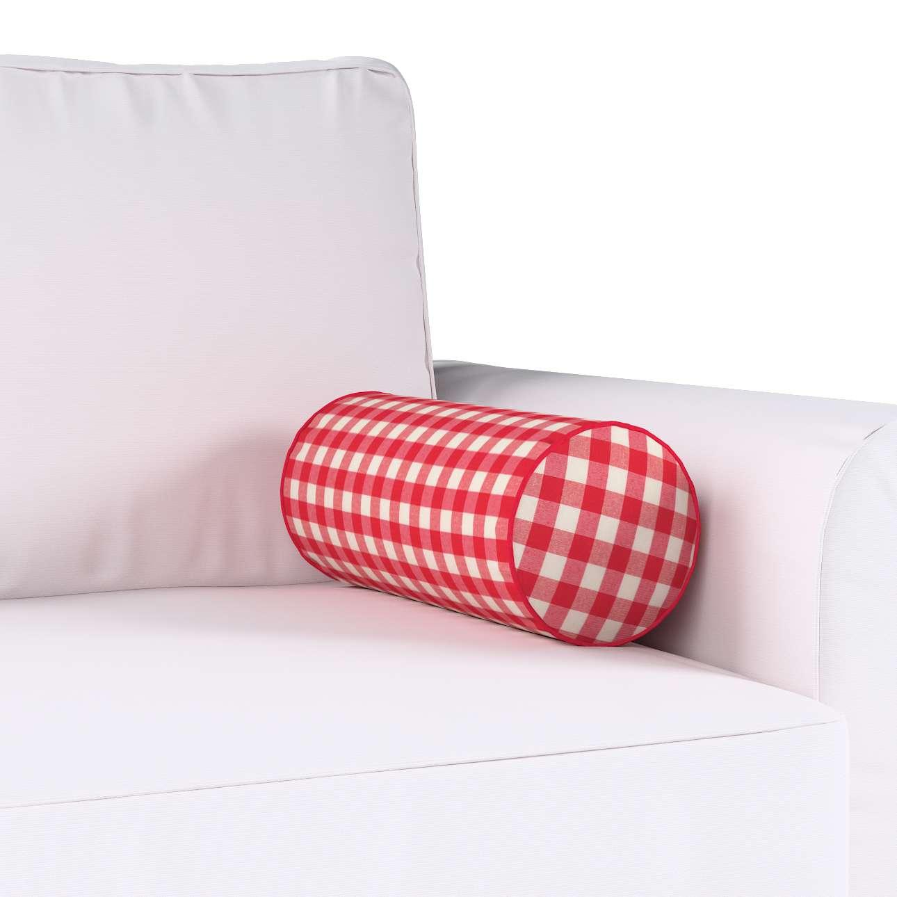 Poduszka wałek prosty Ø16x40cm w kolekcji Quadro, tkanina: 136-16
