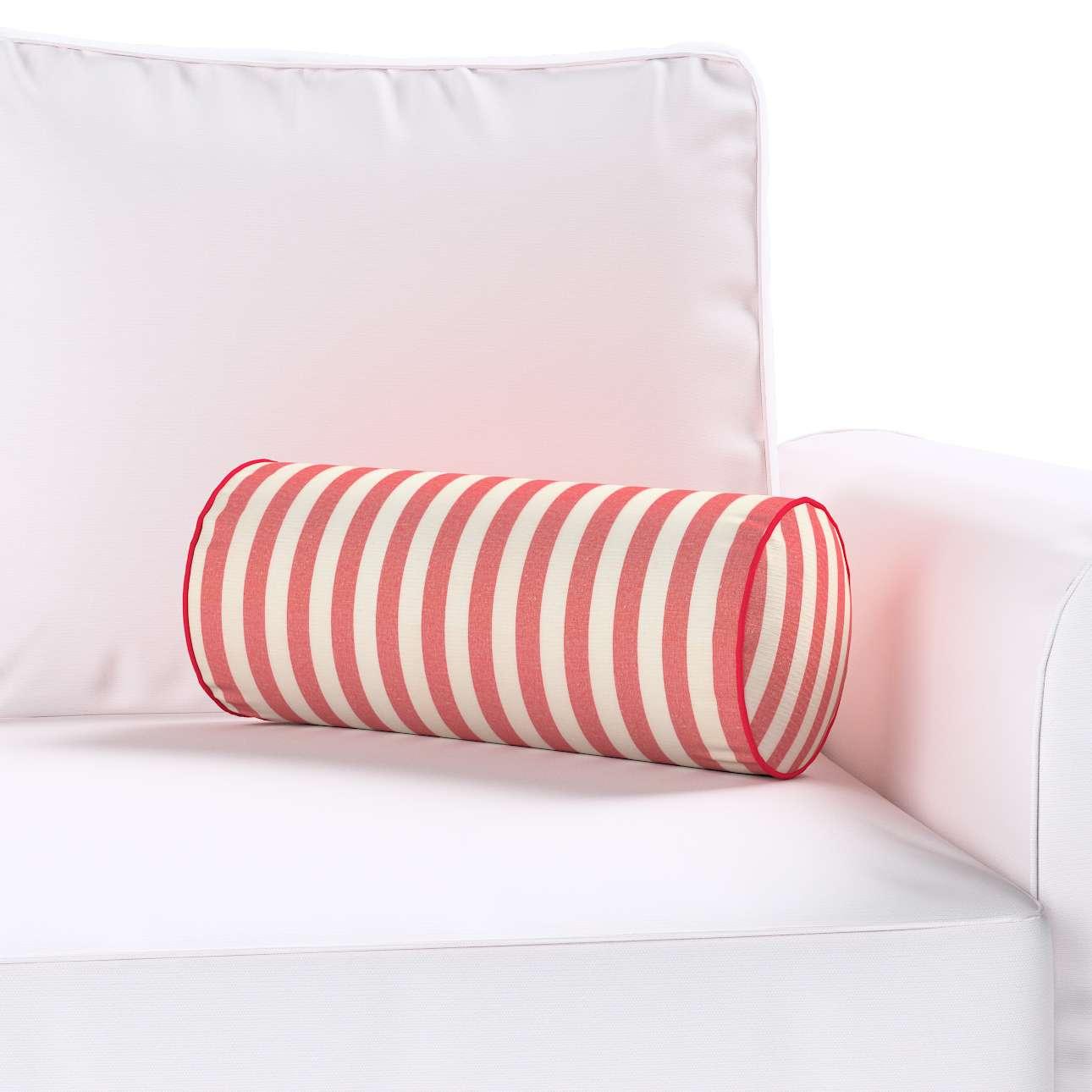 Poduszka wałek prosty Ø 16 x 40 cm w kolekcji Quadro, tkanina: 136-17